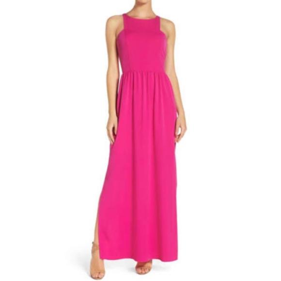 f1b738f27073 NWT Chelsa 28 Pink Maxi Formal Gown